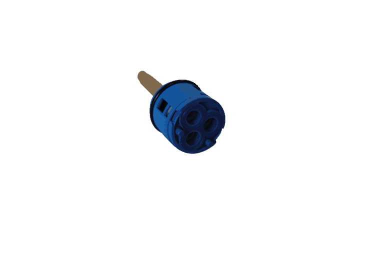 New 3 Output diverter core in blue