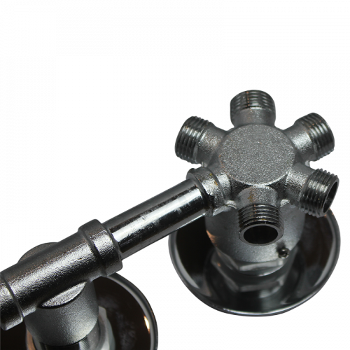 3 Dial 4 Outputs Steam and shower cabin thermostatic mixer valve, output view from rear