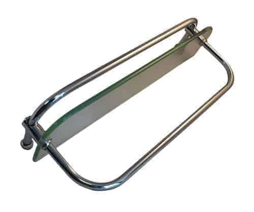 Glass Shelf with Rail