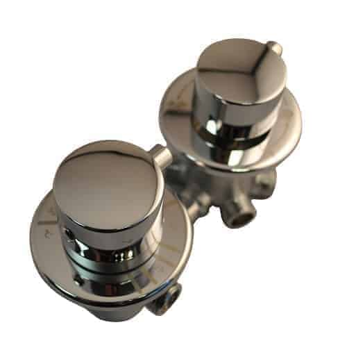 2 Dial 3 Output Thermostatic Shower Valve