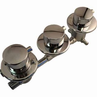 3 Dial 4 Output Thermostatic Shower Valve
