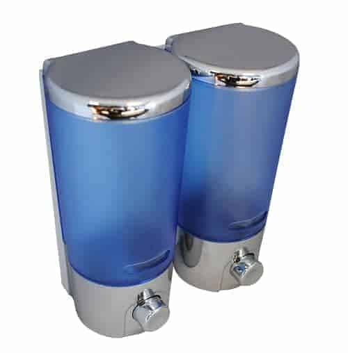 Twin Blue Soap Dispenser