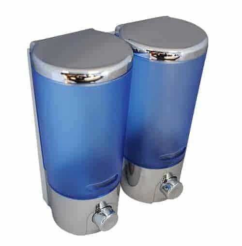 Shower Soap Dispenser Double - Blue