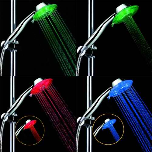 Top Elecs Dual Models Colorful 7 Color LED Showerhead