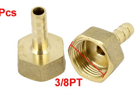 15mm Straight Brass Push Fitting Image 2