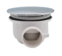 Large plug waste housing for steam and shower cabin 85mm Rear View