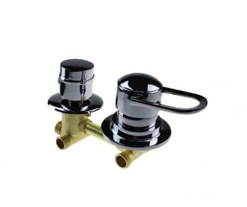 2 Dial Mixer Valve with Threaded Outputs