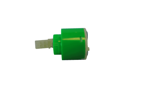 40mm Diverter Cartridge Tap (Green) Side View