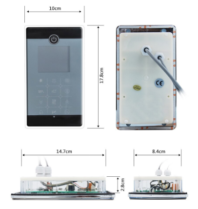 MK117 Control Panel Dimensions