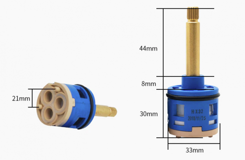 3 Output diverter selector for steam and shower cabins