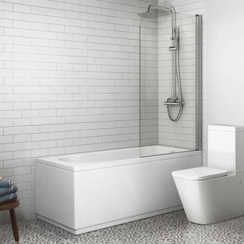 Straight Bath and Screen with Round Design – Soak