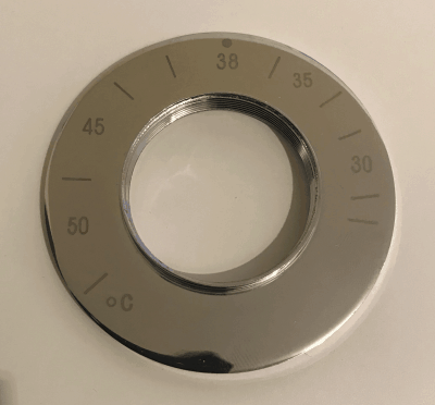Aqualux Thermostatic Faceplate dial