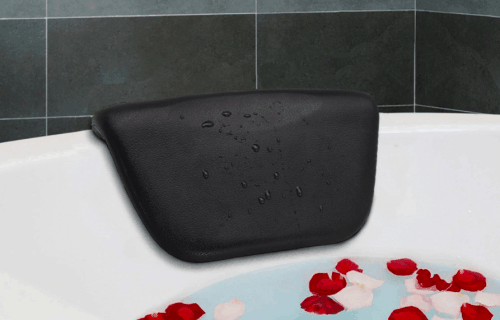 Bath headrest with Suction Bath View