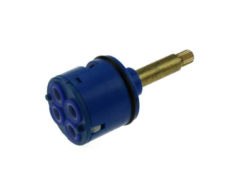 37mm Diverter Core- 4 Outputs Blue- Replacement Shower Tap/Core