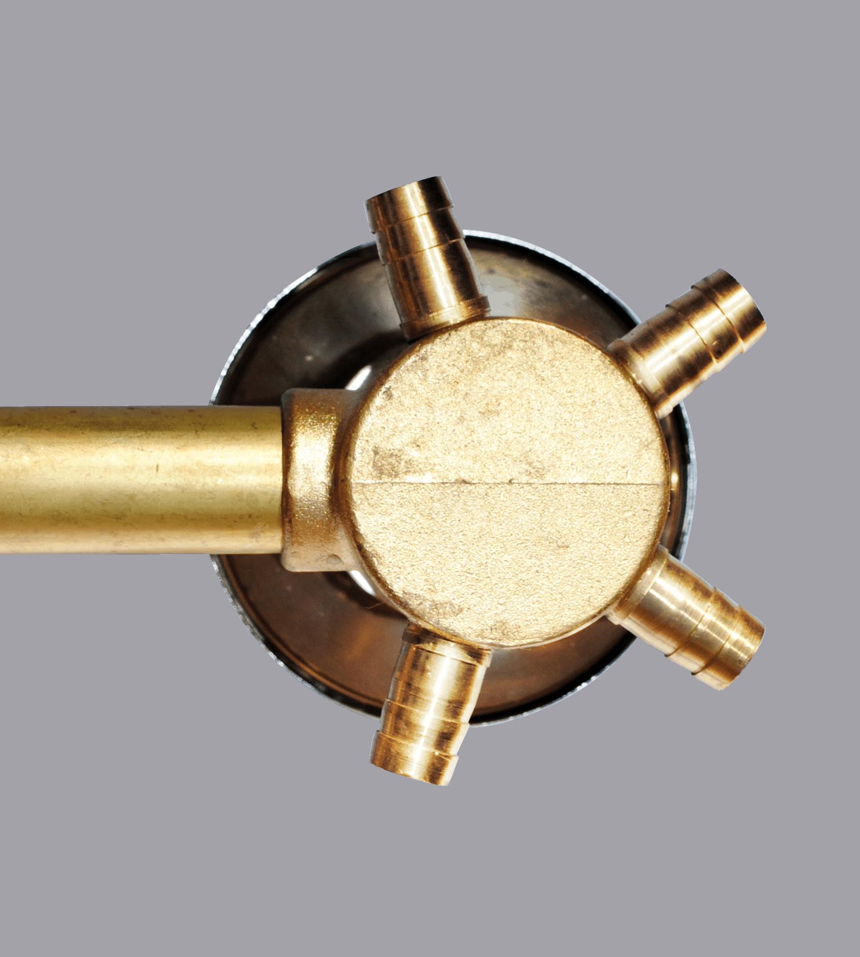 2 Dial Shower Mixer Valve 100mm Centres: 2,3,4 & 5 Outputs
