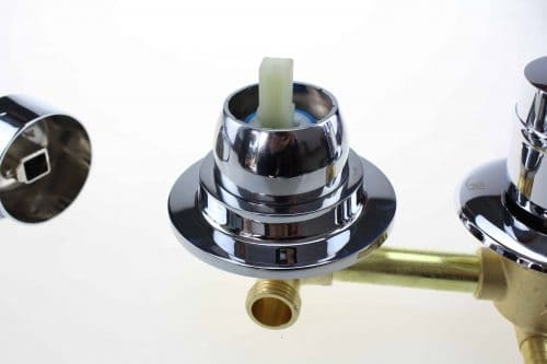 2 Dial Shower Mixer Valve : Threaded 140mm Centres
