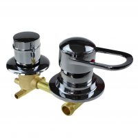 2 Dial Shower Mixer Valve 150mm Centres: 2,3,4 & 5 Outputs