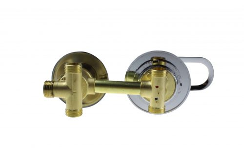 2 Dial Shower Mixer Valve : Threaded 120mm Centres