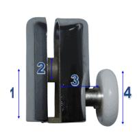 Shower Door Wheels & Rollers Model 002
