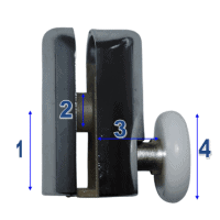 Shower Door Rollers & Wheels Model 068