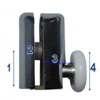 Shower Door Rollers & Wheels Model 061