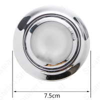 12v Ceiling Spot light for steam and shower cabins Diameter view
