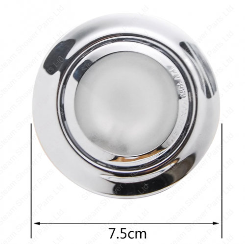 12v Ceiling Spot light for steam and shower cabins Diameter view