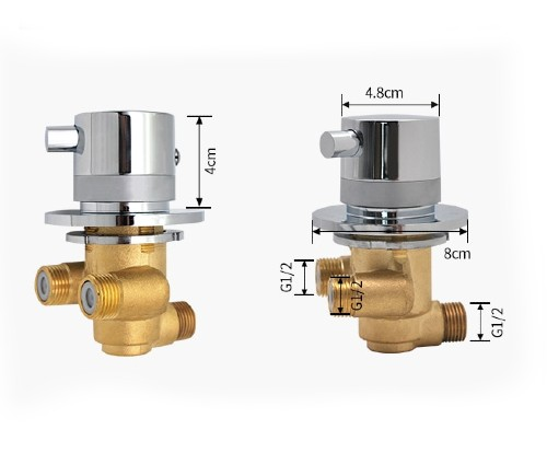 Single Thermostatic Block with Dimensions