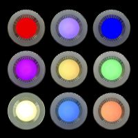 Chromatherapty Steam Room Ceiling Light colour options