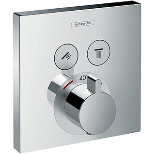 Hansgrohe ShowerSelect Thermostatic Mixer for 2 Outlets