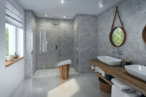 Concrete Marble 8mm Thick Shower Panel