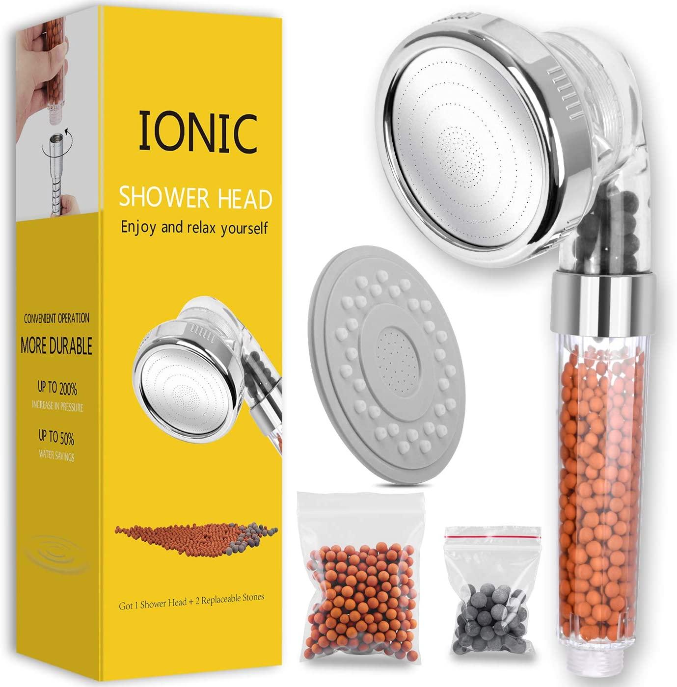 Ionic water saving showerhead