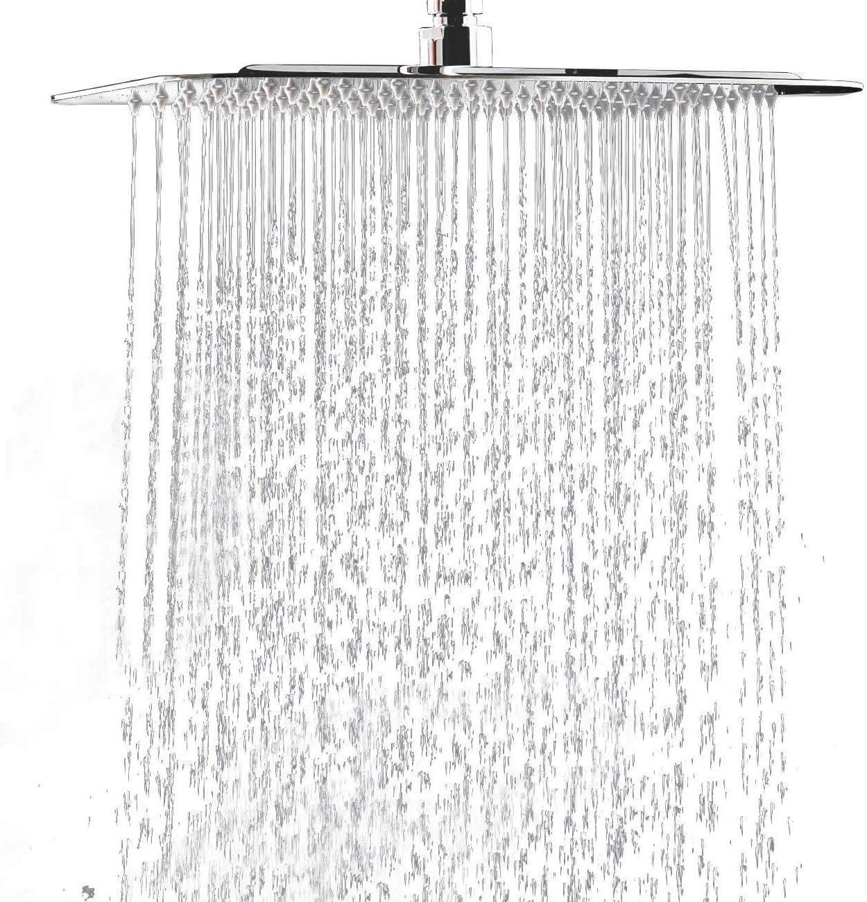 Hiendure® 304-grade Stainless Steel 16-inch Rainfall shower head