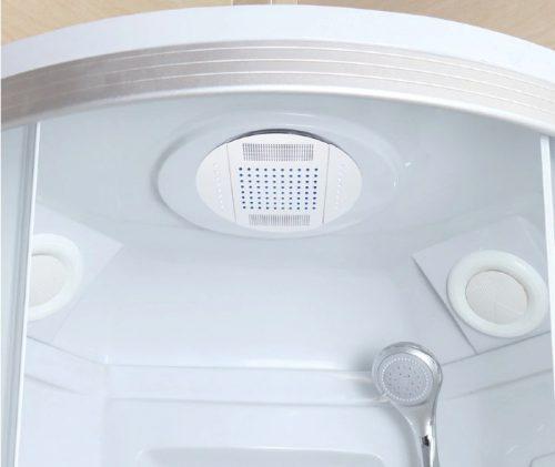 LED monsoon shower head in situ