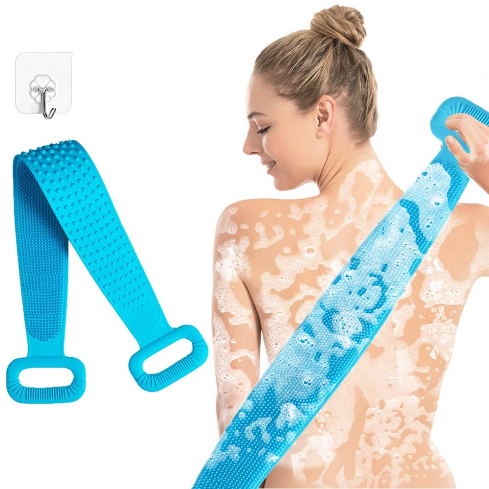 Back scrubber for shower silicone