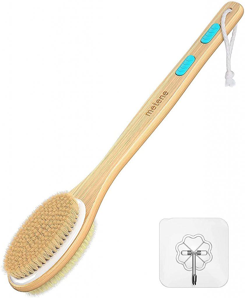 Metene back scrubber for shower