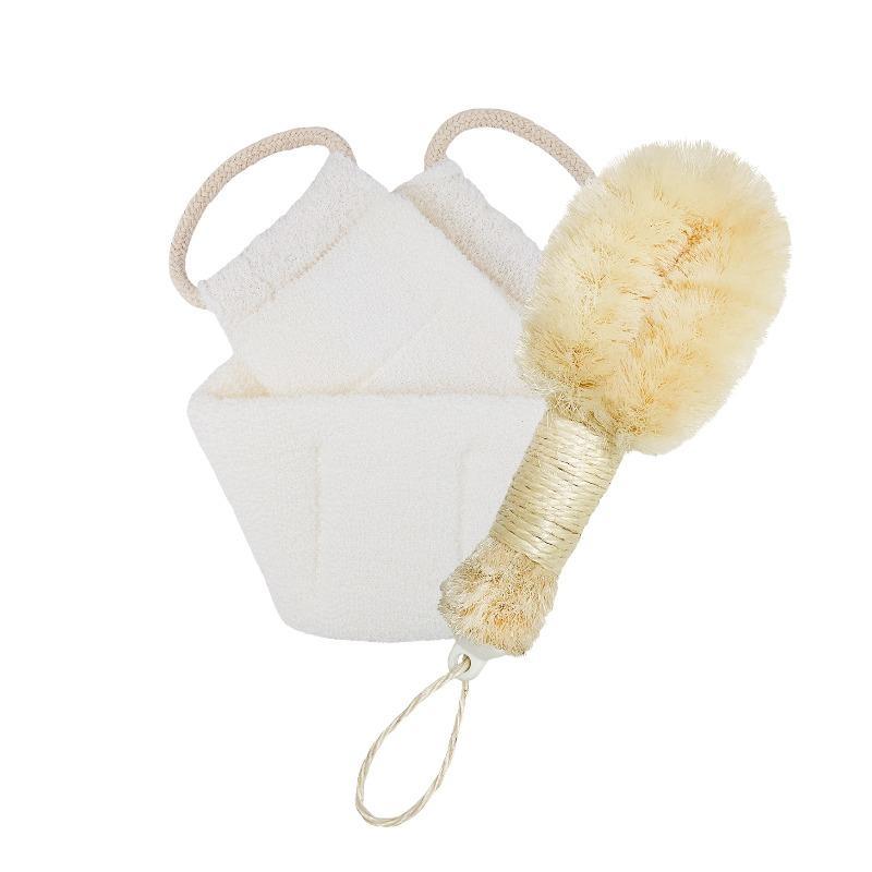 sisal bursh and back scrubber bindle